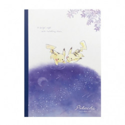 Notebook Pikachu number025 Starry Sky
