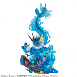 Figure Water Type Pokemon Dive to Blue G.E.M.EX series