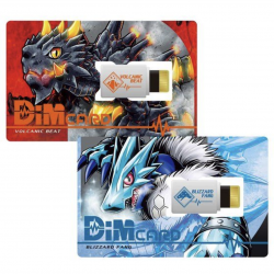 Dim Card Set Vol.1 Volcanic Beat and Blizzard Fang Digimon