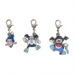Keychain Mime Jr. Galarian Mr. Mime and Mr. Rime Zenkoku Zukan