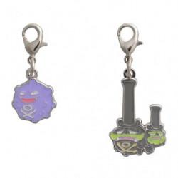 Keychain Koffing and Galarian Weezing Zenkoku Zukan