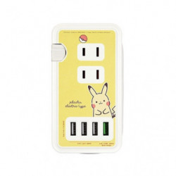 AC Socket with USB Port Pikachu