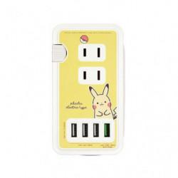 AC Socket with USB Port Pikachu