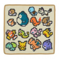 Mini Towel Pokemon Group Game Dotto japan plush