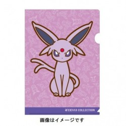 A4 Clear File Espeon japan plush