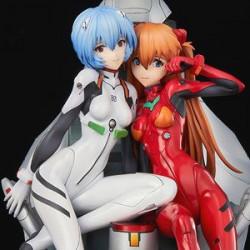Figurine Rei and Asuka Neon Genesis Evangelion