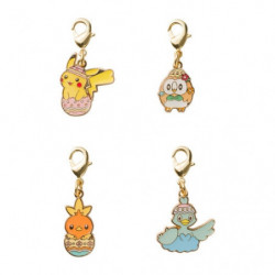 Pendentif Metallique Set Pikachu Happy Easter Basket