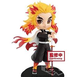 Figurine Shinjuro Rengoku Flame Purgatory Normal Color Kimetsu No Yaiba Q Posket