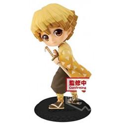 Figurine Zenitsu Agatsuma Sepia Color Kimetsu No Yaiba Q Posket