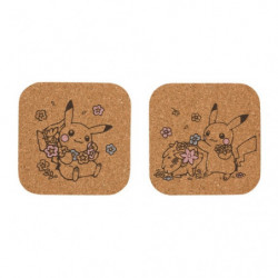 Coasters Set LOVELY FLOWERS WITH PIKACHU