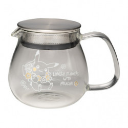 Heat Resistant Tea Pot One Touch LOVELY FLOWERS WITH PIKACHU