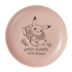 Plate Pink S LOVELY FLOWERS WITH PIKACHU