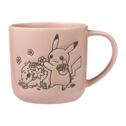 Mug Pink LOVELY FLOWERS WITH PIKACHU