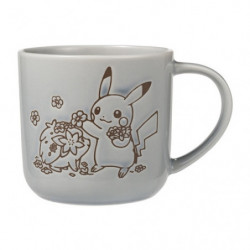 Mug Blue-Grey LOVELY FLOWERS WITH PIKACHU