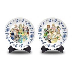 Plates Set Arita Porcelain Men/Women Romancing Saga