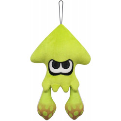 Plush Squid Neon Jaune Splatoon 2 ALL STAR COLLECTION
