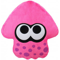 Plush Cushion Squid Neon Pink Splatoon 2 ALL STAR COLLECTION