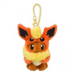Mascot Eevee Plush Keychain Poncho Flareon japan plush