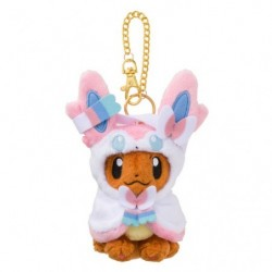 Mascot Eevee Plush Keychain Poncho Sylveon japan plush