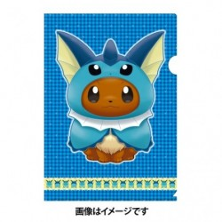 A4 Clear File Eevee Poncho Vaporeon japan plush
