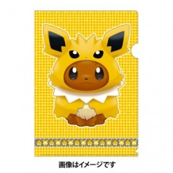 A4 Clear File Eevee Poncho Jolteon japan plush