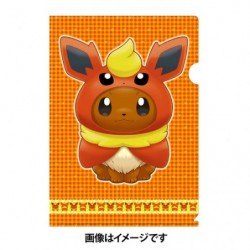 A4 Clear File Eevee Poncho Flareon japan plush