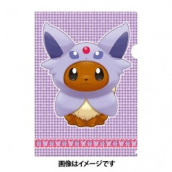 A4 Clear File Eevee Poncho Espeon japan plush