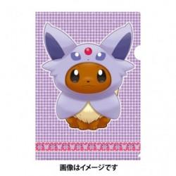 A4 Clear File Eevee Poncho Espeon japan plush