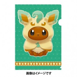 A4 Clear File Eevee Poncho Leafeon japan plush