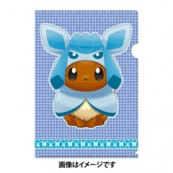 A4 Clear File Eevee Poncho Glaceon japan plush