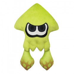 Plush Squid Neon Yellow Large Splatoon 2 ALL STAR COLLECTION