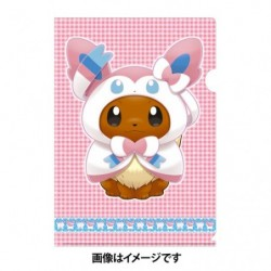A4 Clear File Eevee Poncho Sylveon japan plush