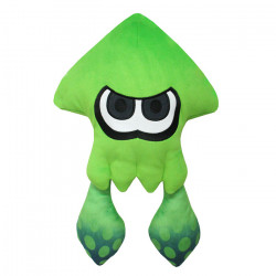 Plush Squid Neon Green Large Splatoon 2 ALL STAR COLLECTION