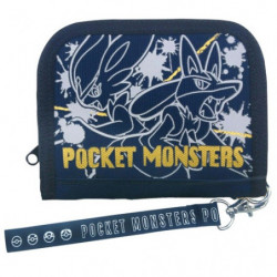 Wallet Cinderace and Lucario Navy Pocket Monsters