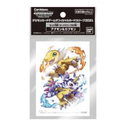 Card Sleeves Agumon and Gabumon Digimon