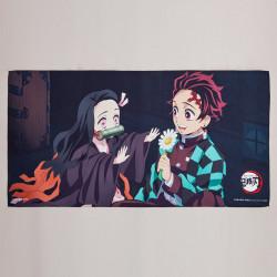 Serviette Bain Nezuko and Tanjiro Kimetsu No Yaiba