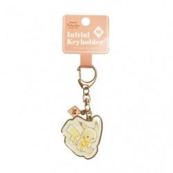 Keychain Initial M Pikachu number025