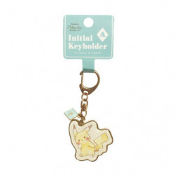 Keychain Initial A Pikachu number025