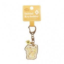 Keychain Initial K Pikachu number025