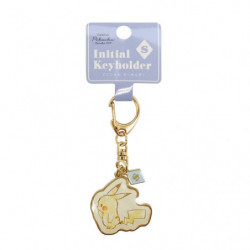 Keychain Initial S Pikachu number025