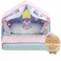 Plush Tonkatsu Star House Bed Sumikko Gurashi