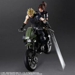 Figurine Cloud Jessie Moto Set Final Fantasy VII Remake PLAY ARTS