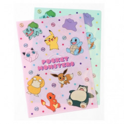 Clear Files Pink Green Set