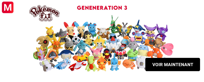 Pokémon Peluche Fit Generation 3 Rubis et Saphir
