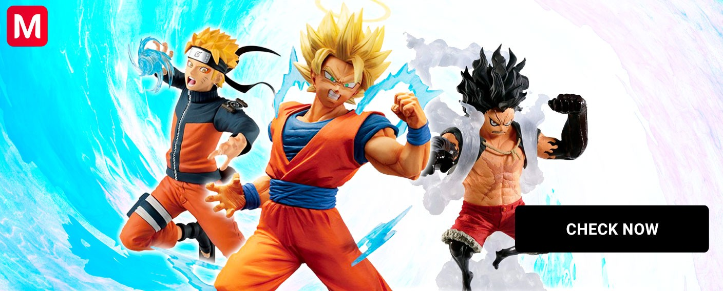 banpresto figures dbz naruto one piece