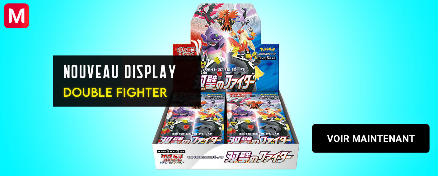 Display Double Fighter Pokemon Cartes