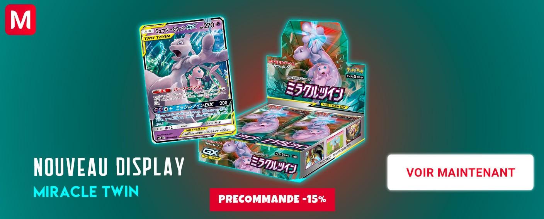 Pokemon Display Carte Miracle Twin